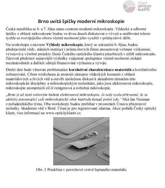 Výhledy mikroskopie